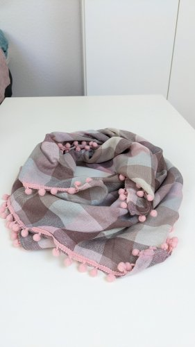 Ostin Bufanda de flecos beige-rosa claro