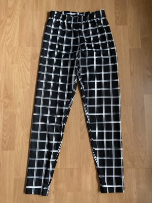 SheIn Pantalón de tubo negro-blanco