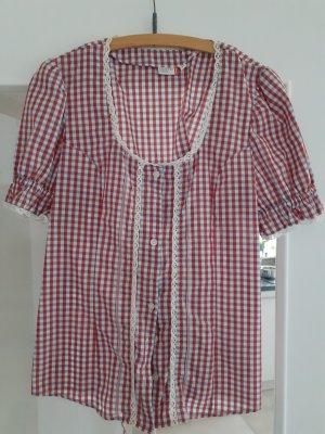 OUTFIT Classic Blouse à carreaux blanc-rouge