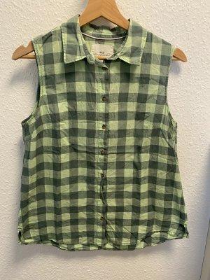 H&M L.O.G.G. Geruite blouse lichtgroen-bos Groen
