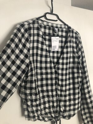 H&M Checked Blouse black-white