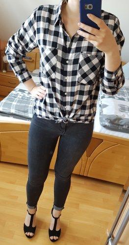 Gina Tricot Koszula w kratę biały-czarny