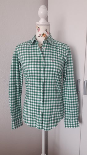 Gant Camicia a scacchi bianco-verde Cotone