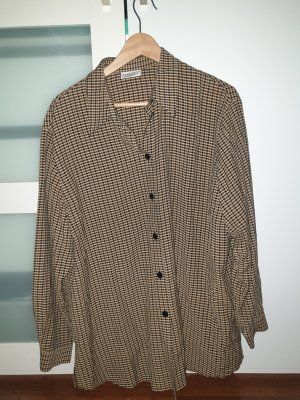 Samoon Checked Blouse black-green grey