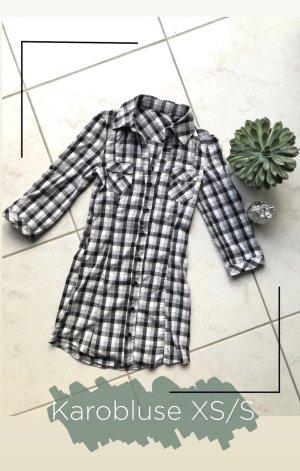 Camicia a scacchi nero-bianco