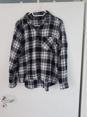 Karierte Bluse Hemd Baumfällerhemd schwarz weiß