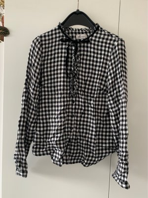 yfl RESERVED Checked Blouse black-white