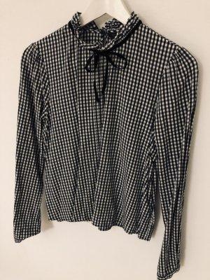 Zara Woman Camicia a scacchi nero-bianco