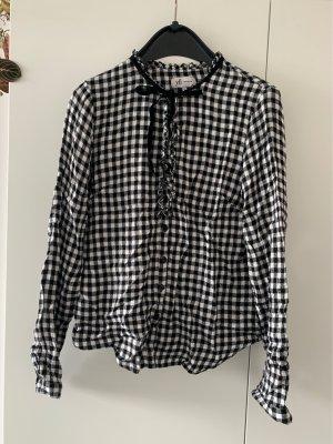 yfl RESERVED Bluzka w kratę czarny-biały