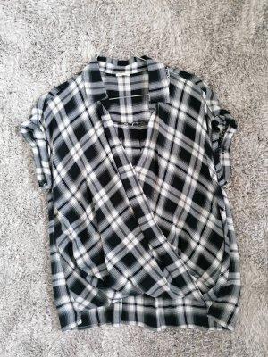 karierte Bluse (schwarz, weiß, grau) für Damen