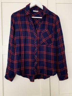 6ixty 8ight Blusa de manga larga azul-rojo