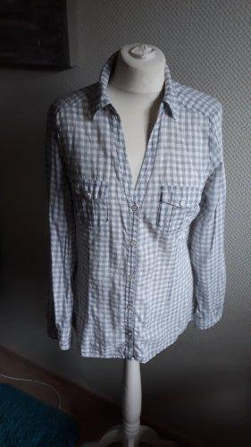 Mango Camicia a scacchi grigio chiaro-crema