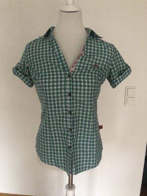 OCK Geruite blouse groen-wit