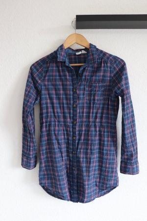 Karierte H&M Damen Bluse blau/pink Gr. S Hemdbluse