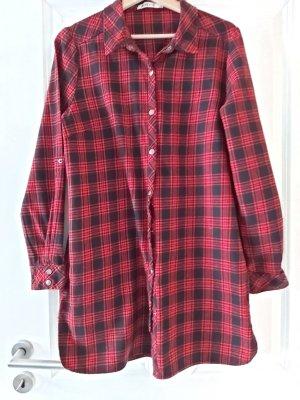 Just Fab Lumberjack Shirt black-carmine