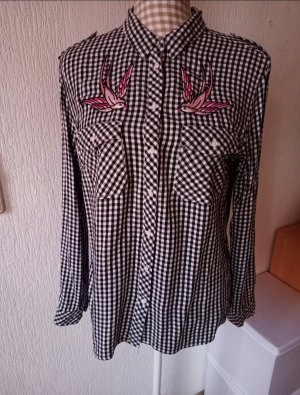Tally Weijl Checked Blouse white-black