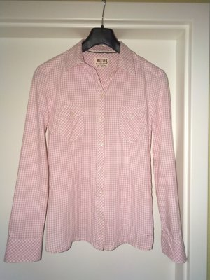 Mustang Blusa-camisa blanco-rosa claro