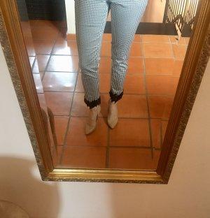 Bodyflirt Pantalón tobillero blanco-negro