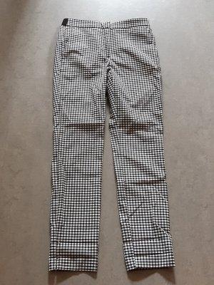 Zara Pantalón de pinza alto negro-blanco