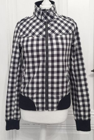 Karierte Jacke / Übergangsjacke in blau und weiß