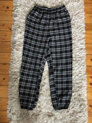SheIn Pantalon fuselé noir-blanc polyester