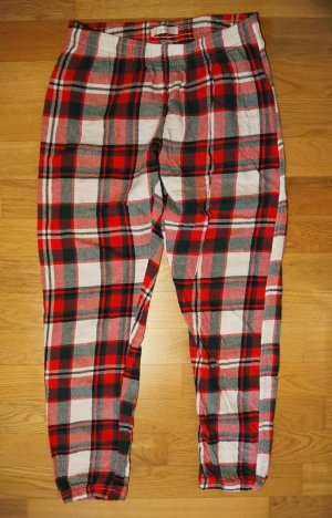 Reserved Pyjama blanc-rouge fluo