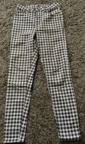 Jeans skinny noir-blanc