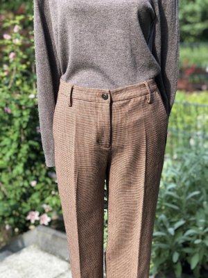 Benetton Spodnie materiałowe cognac-jasnobrązowy