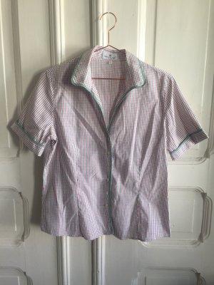Karierte taillierte Bluse