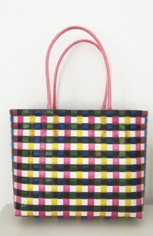 Basket Bag multicolored synthetic material