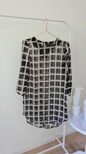 AX Paris Sukienka tunika biały-czarny