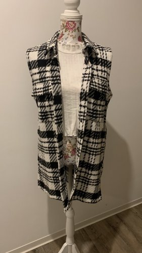 Sofie schnoor Long Knitted Vest black-white