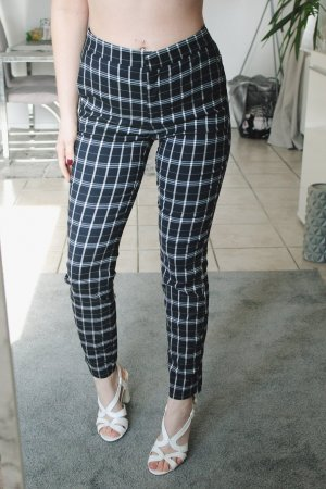 Zara Pantalone chino blu scuro-bianco sporco