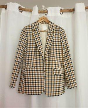 H&M Jersey blazer zandig bruin-blauw