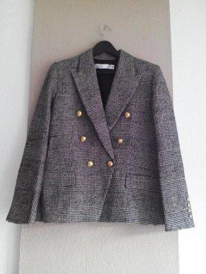 Zara Klassischer Blazer black-beige polyester
