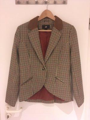 Karierter Blazer mit Wolle von H&M in Größe 38 (40)