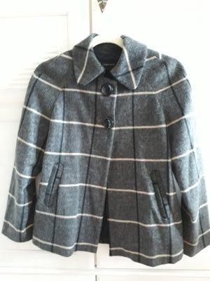 Zara Basic Krótki płaszcz Wielokolorowy
