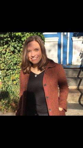 Karierter Mantel aus Wolle von Marc O'Polo in warmen Farben