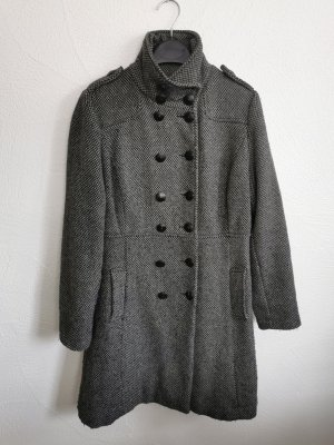 Karierter Mantel in grau/schwarz