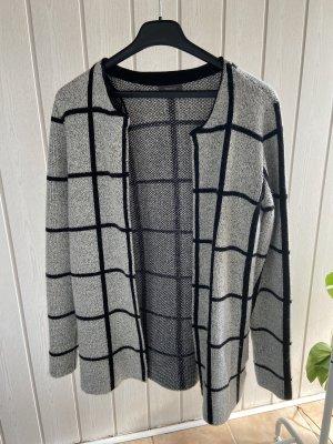 C&A Wełniany płaszcz jasnoszary-czarny