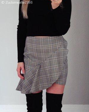 H&M Asymmetry Skirt light grey-natural white