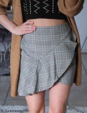H&M Asymetryczna spódniczka jasnoszary-w kolorze białej wełny
