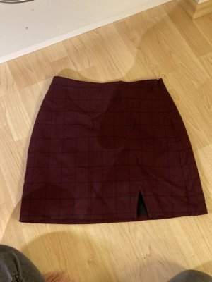 Abercrombie & Fitch Gonna in lino nero-bordeaux