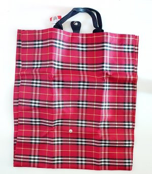 Karierter Shopper Beutel Tasche rot