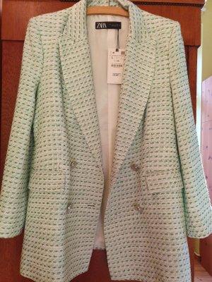 karierter Tweed Blazer Jacket von ZARA