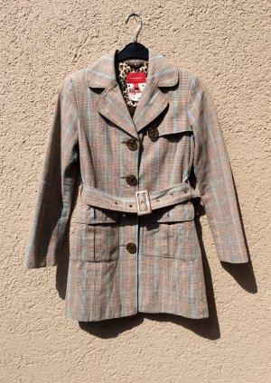 Karierter Tweed Mantel von Mexx Trenchcoat