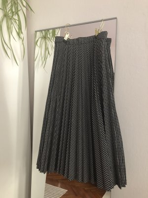Vintage Plisowana spódnica czarny-biały