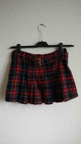 Killah Plaid Skirt multicolored wool