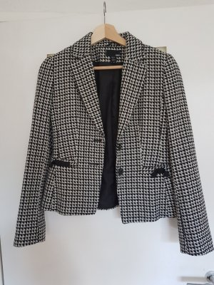 H&M Blazer en laine noir-blanc
