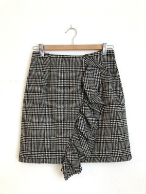 Edited Falda de lana negro-blanco